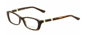 Tory Burch NEW Eyeglasses TY 2054 c. 1378 in Dark Tortoise w/ Wood Temples 52mm