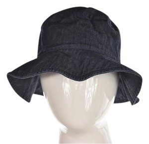 agnès b. Agnes B Womens Blue Bucket Hat Denim Wash Casual