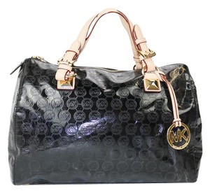 Michael Kors Grayson Patent Leather Tote in Black