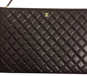 Chanel O-case Ocase Pouch Black Clutch