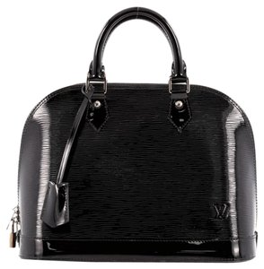 Louis Vuitton Leather Satchel in Black