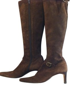 Ralph Lauren Dark Brown Suede Boots