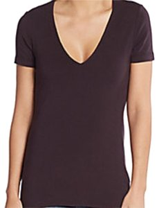 James Perse Cotton V-neck Soft T Shirt Brown