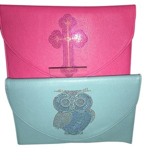 Pink & turquoise Clutch
