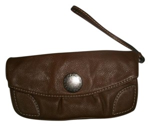 Marc by Marc Jacobs Leather Tumbled Brown Clutch