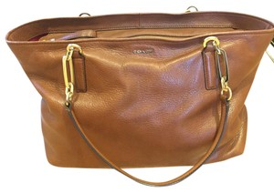 Coach Shoulder Tote in Brown Leather