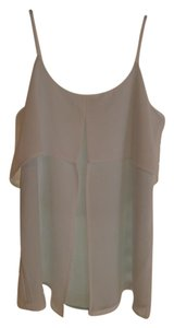 Design History Camisole Aqua Top White