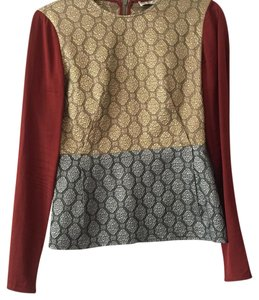Stella McCartney Longsleeve Silk Color-blocking Top