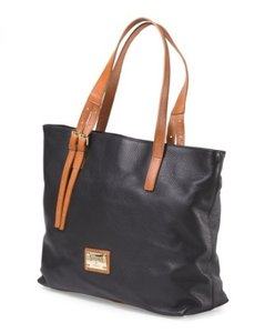 Valentina Leather Italian Tote in Black