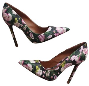 SCHUTZ Party Ball Gown Floral Stiletto Evening Black/Floral Pumps
