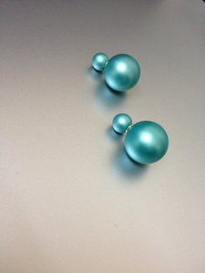 Other REDUCED PRICE!!! Fancy Blue-Green Ball Earrings