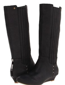 Reef Wedge Black Boots