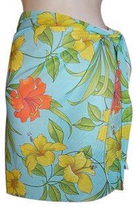 Other Sarong Wrap Skirt Floral Bathing Suit Swimsuit Cover Up NEW