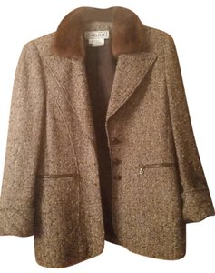 Carlisle Tweed Faux Fur Brown Jacket