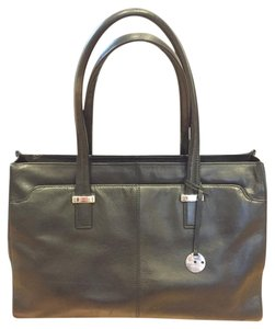KNOMO Briefcase Shoulder Silver Hardware Laptop Bag