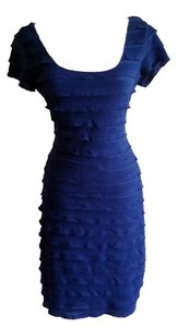 Max Studio Royal Blue Ruffled Dress