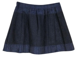 J.Crew Sparkle Pleats Mini Skirt black blue