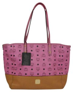 MCM Leather Tote in Pink