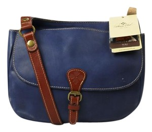 Patricia Nash Designs Leather London Crossbody Navy Messenger Bag