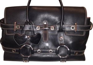Luella Satchel in Black Silver