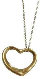 Tiffany & Co. TIFFANY & CO. 18K YELLOW GOLD ELSA PERETTI OPEN HEART PENDANT/CHAIN