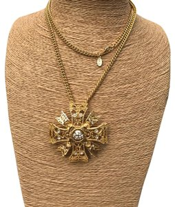 Kenneth Jay Lane KJL /KENNETH JAY LANE MALTESE CROSS NECKLACE