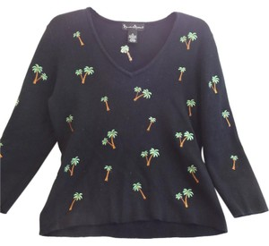 MERCER & MADISON Palm Trees Cotton Knit Sweater