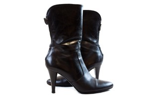 Cole Haan Leather Ankle Black Boots