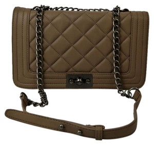 Steve Madden Rotational Closure Quilted Faux Leather Rustic Hardware Cross Body Bag
