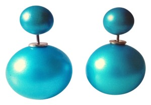 Handmade Light Blue Ball Earrings