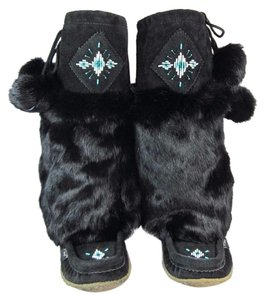 Laurentian Chief Goat Leather Mid Black Boots