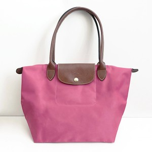 Longchamp Nylon Le Pliage Pink Tote in Pink Candy