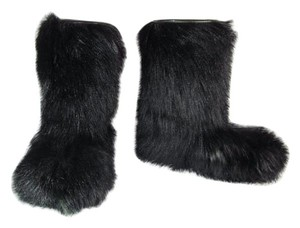 Dan Di Modes Fur Black Ski Leather Boots