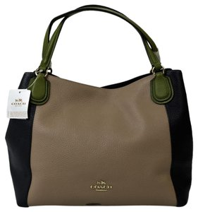 Coach Multi Color Gold Hardware Tote in Tan