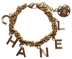 Chanel CC Logo Charms Gold Letters Alphabet Chain Link Toggle 02A France