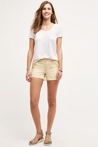 Anthropologie Linen Mini/Short Shorts Gold/ Yellow