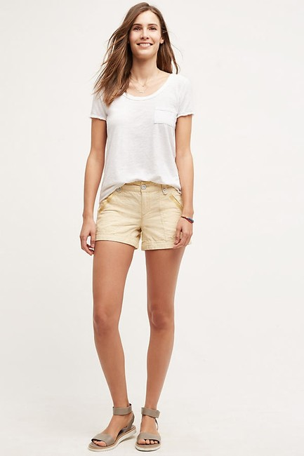 Item - Gold/ Yellow By Pilcro Linen Shorts Size 2 (XS, 26)