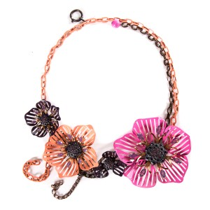 Lanvin Lanvin Multi Metal Floral Necklace