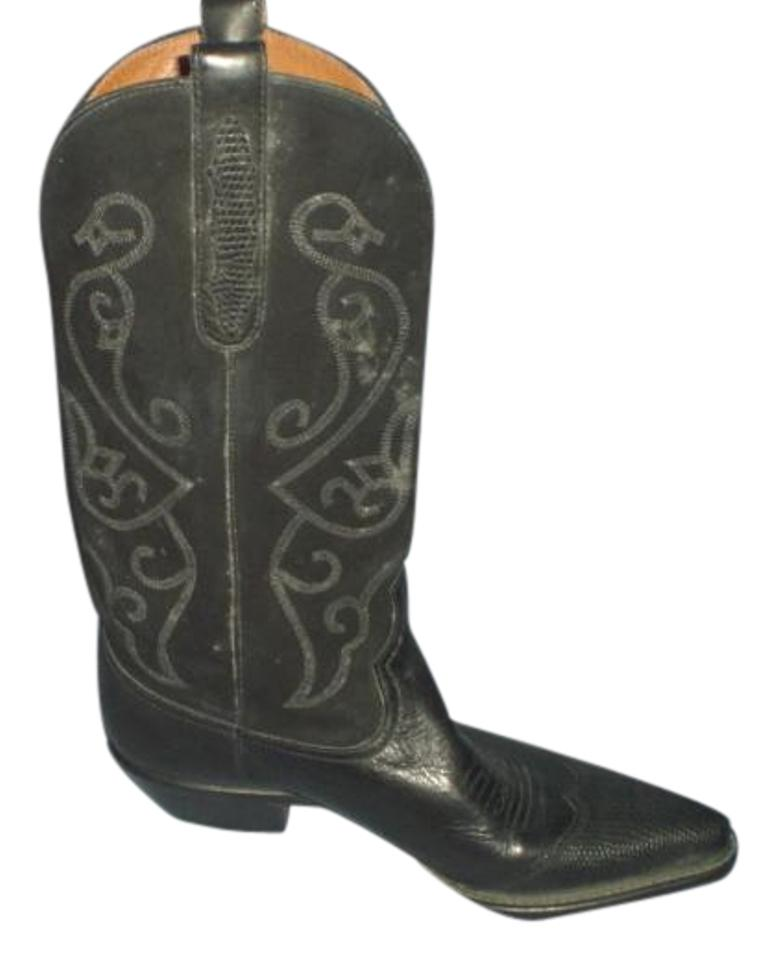 55434243d6e Nine West Black Leather Womens Cowboy Boots/Booties Size US 8 Regular (M, B)