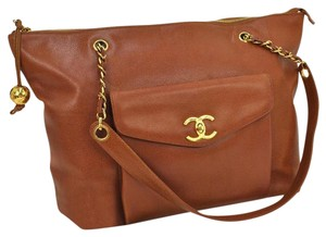 Chanel Shoulder Jumbo Tote in brown