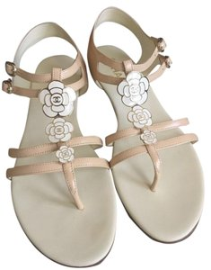 Chanel Camellia Flower Gladiator beige Sandals