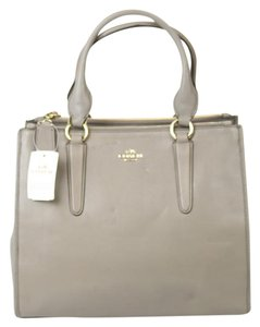 Coach Leather Tote in Gray