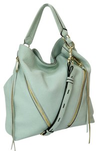 Rebecca Minkoff Zipper Details Gold Hardware Satchel Leather Butterfly Linning Hobo Bag