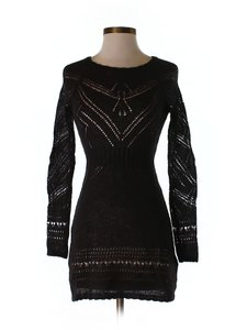H&M short dress black Wool Holiday Winter on Tradesy