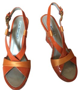 Via Spiga Orange Wedges