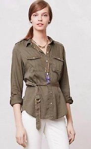 Anthropologie Fall Anthro T Shirt Green