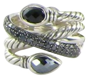 David Yurman David Yurman Renaissance Ring Onyx Hematite Diamond 0.80cts Sterling