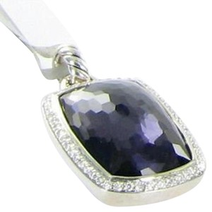 David Yurman David Yurman Albion Enhancer Pendant 23x15mm Blk Orchid Diamond Sterling
