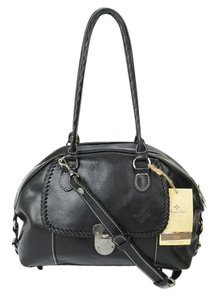 Patricia Nash Designs Leather Satchel in Black