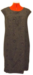 Vince short dress gray Wool Circles Knee Length on Tradesy